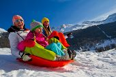 stock photo of sled  - Winter fun - JPG