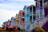 picture of beach-house  - row of colorful beach houses - JPG