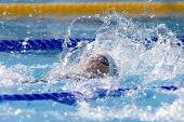 Jul 27 2009; Rome Italy; Elizabeth Pelton (USA) competing in the womens 100m backstroke at the 13th