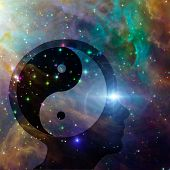 pic of taoism  - Yin Yang Head elements of this image furnished by NASA - JPG