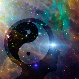 picture of taoism  - Yin Yang Head elements of this image furnished by NASA - JPG