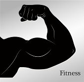 foto of arm muscle  - Cartoon biceps  - JPG