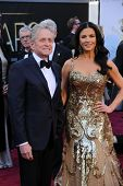 Michael Douglas, Catherine Zeta-Jones at the 85th Annual Academy Awards Arrivals, Dolby Theater, Hol