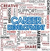 picture of self assessment  - Career development word cloud image with hi - JPG