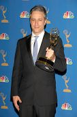 LOS ANGELES - AUGUST 27: Jon Stewart in the Press Room at the 58th Annual Primetime Emmy Awards in T