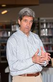 LOS ANGELES - APRIL 10: Sen. John Kerry on tour of the 31st Congressional District of Los Angeles in