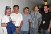 David Spade, Nick Di Paolo, Gary Dell'Abate, Sam Simon and Craig Gass  at the FM Talk Brew Ha Ha com