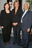 Mary-Jane Wagle, Christine Lahti and Reverend Dr. Ignacio Castuera  at the Special Screening of