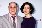 Matthew Weiner and Linda Brettler at the WGA's 101 Best Written Series Announcement, Writers Guild o