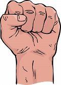 stock photo of revolt  - Fist on a white background vector illustration - JPG