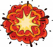 stock photo of big-bang  - Fiery explosion on white background vector illustration - JPG