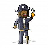 pic of peg-leg  - cartoon pirate captain - JPG
