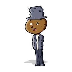 picture of hobo  - cartoon funny hobo man - JPG