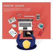 ������, ������: Graphic design and designer tools concept