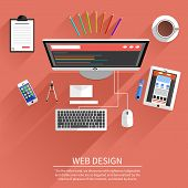 picture of engineering construction  - Web design concept - JPG