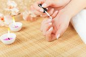 picture of french manicure  - Close - JPG