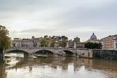 foto of emanuele  - Ponte Vittorio Emanuele II is a bridge in Rome constructed to designs of 1886 by the architect Ennio De Rossi Italy - JPG