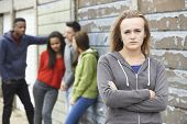 image of gang  - Gang Of Teenagers Hanging Out In Urban Environment - JPG
