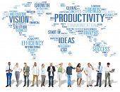 foto of productivity  - Productivity Mission Strategy Business World Vision Concept - JPG
