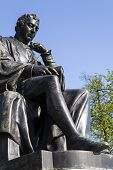 picture of kensington  - A statue of famous doctor Edward Jenner located in Kensington Gardens in London - JPG