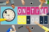 pic of time study  - On Time Punctual Efficiency Organization Management Concept - JPG