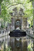 foto of garden sculpture  - Medici Fountain in the Luxembourg Garden Paris - JPG