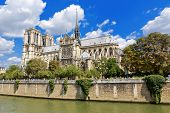 foto of notre dame  - The Cathedral of Notre Dame de Paris France - JPG