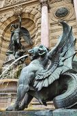 picture of michel  - Winged lion Fontaine Saint - JPG