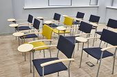 pic of business class  - The empty training class with modern chairs - JPG