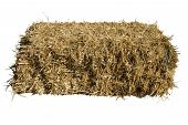 image of hay bale  - a bale of straw on a white background - JPG