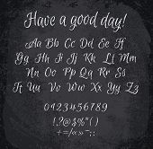 foto of punctuation  - Vector illustration of chalked alphabet - JPG