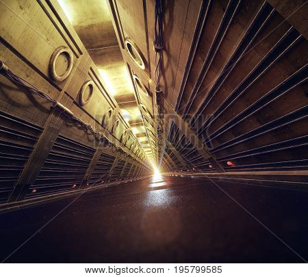 empty concrete subway