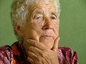 foto of elderly woman  - old woman thinking - JPG