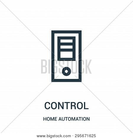 poster of Control Icon Isolated On White Background From Home Automation Collection. Control Icon Trendy And M