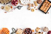 Set Of Middle Eastern Sweets. poster