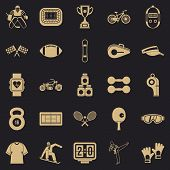 Strong Man Icons Set. Simple Set Of 25 Strong Man Icons For Web For Any Design poster