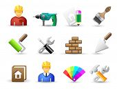 Set of universal work tool icons