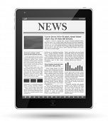 Noticias en tablet pc.