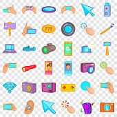 Good Device Icons Set. Cartoon Style Of 36 Good Device Vector Icons For Web For Any Design poster