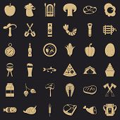 Barbecue Icons Set. Simple Style Of 36 Barbecue Icons For Web For Any Design poster