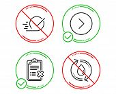 Do Or Stop. Forward, Checkbox And Reject Checklist Icons Simple Set. Refill Water Sign. Next Directi poster