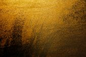 Golden Water Drops On The Window Background. Background Water Droplets Shining Through The Sun Close poster