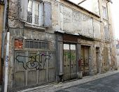 stock photo of poitiers  - Old buildings on a street in Poitiers France - JPG