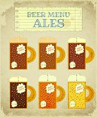 Vintage Beer Card. Ales