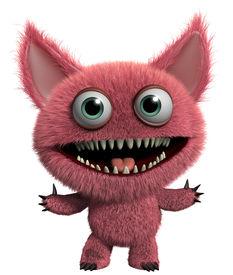 foto of gremlins  - 3 d cartoon cute furry gremlin monster - JPG