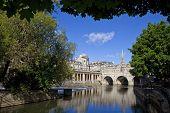 pic of avon  - Pulteney Bridge and the River Avon in Bath - JPG