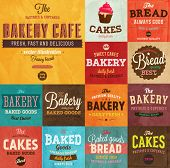 picture of food logo  - Set of vintage retro bakery labels and logo badges - JPG