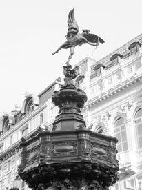image of ero  - Piccadilly Circus with statue of Anteros aka Eros in London UK - JPG
