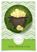 picture of pot gold  - Greeting Card Design - JPG