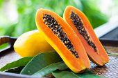 image of papaya fruit  - fruits of Thailand - JPG